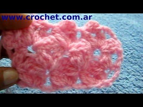 Punto Jazmin en tejido crochet tutorial paso a paso.