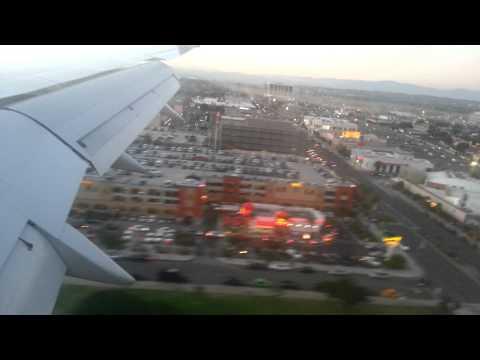 Airplane landing at LAX