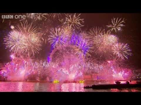 Video de los juegos pirotécnicos de la celebración de año nuevo en Londres