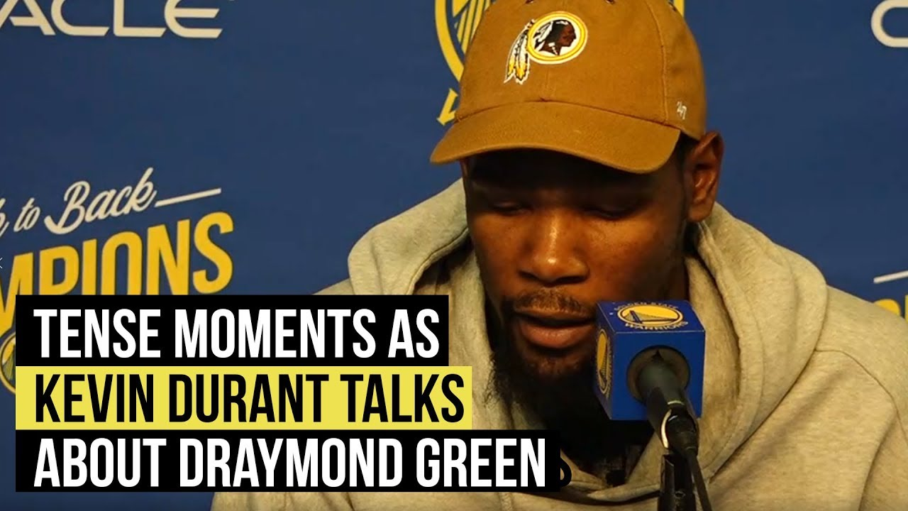 Warriors' Kevin Durant has terse answers to Draymond Green situation