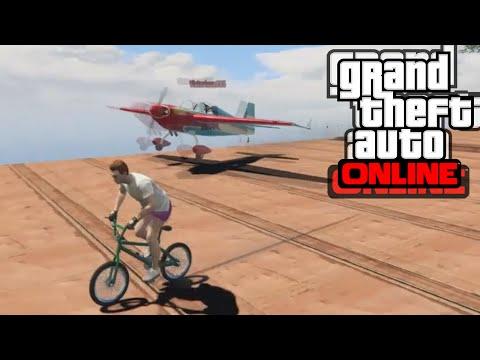 GTA 5 PC Online - BMX срещу самолети