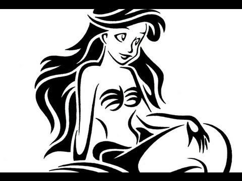 Tribal Mermaid Drawings How to Draw The Little Mermaid