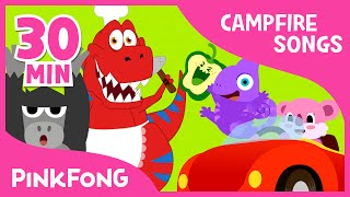 Campfire Songs for Kids | Food, Jungle Animal and More | + Compilation | PINKFONG Songs for Children