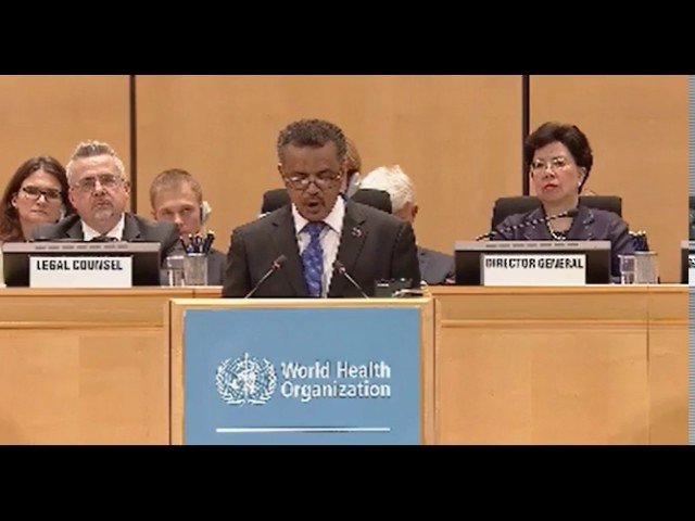 Dr. Tewordros's Speech at WHO Assembly