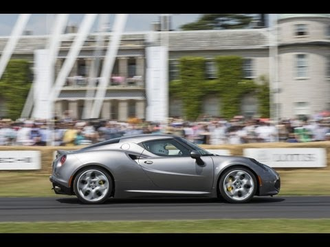 Alfa Romeo 4C - The Dynamic Debut at Goodwood Festival of Speed