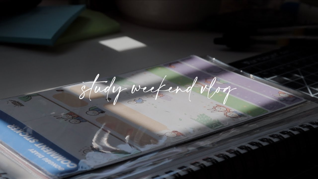 weekend study vlog (new planning system, stickers, more book recs)