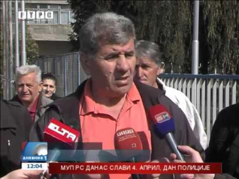 I. Sarajevo: Protest radnika RAOP-a