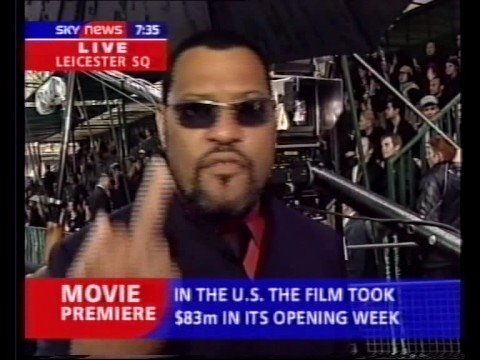 Sky News - Lawrence Fishburne says 'Fuck em' about critics of The Matrix
