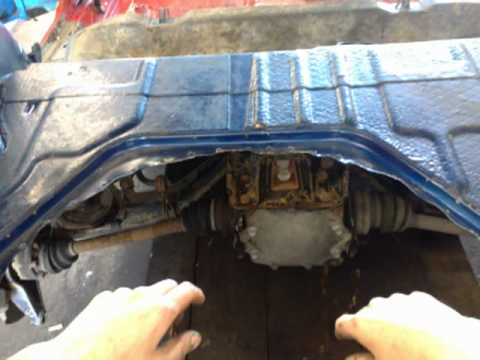 Project Opel Astra 4x4 C20LET engine,rear axle from Opel Calibra Turbo