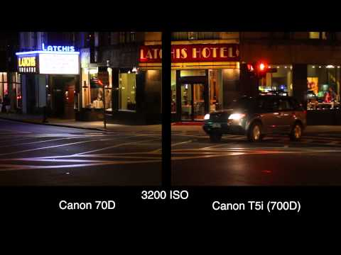 Canon 70D vs 700D - High ISO Video Samples