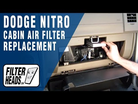 Cabin air filter replacement- Dodge Nitro