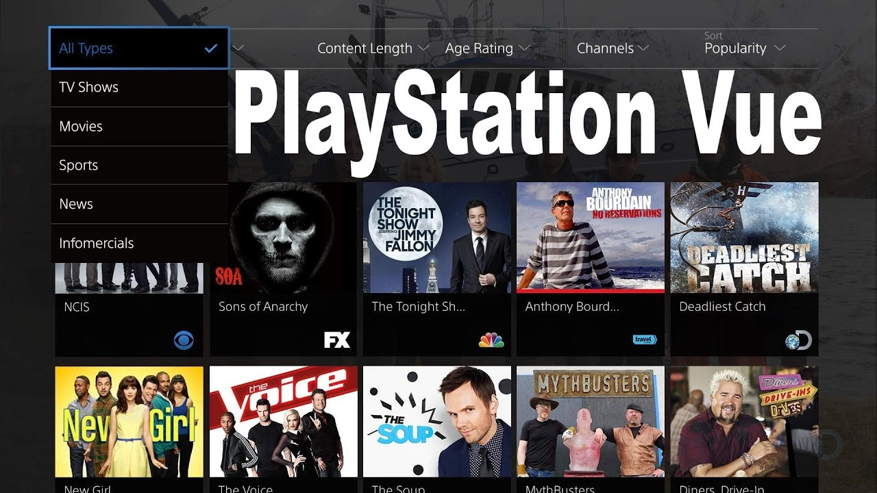 playstation vue tv cloud service details ps4 ps3   youtube