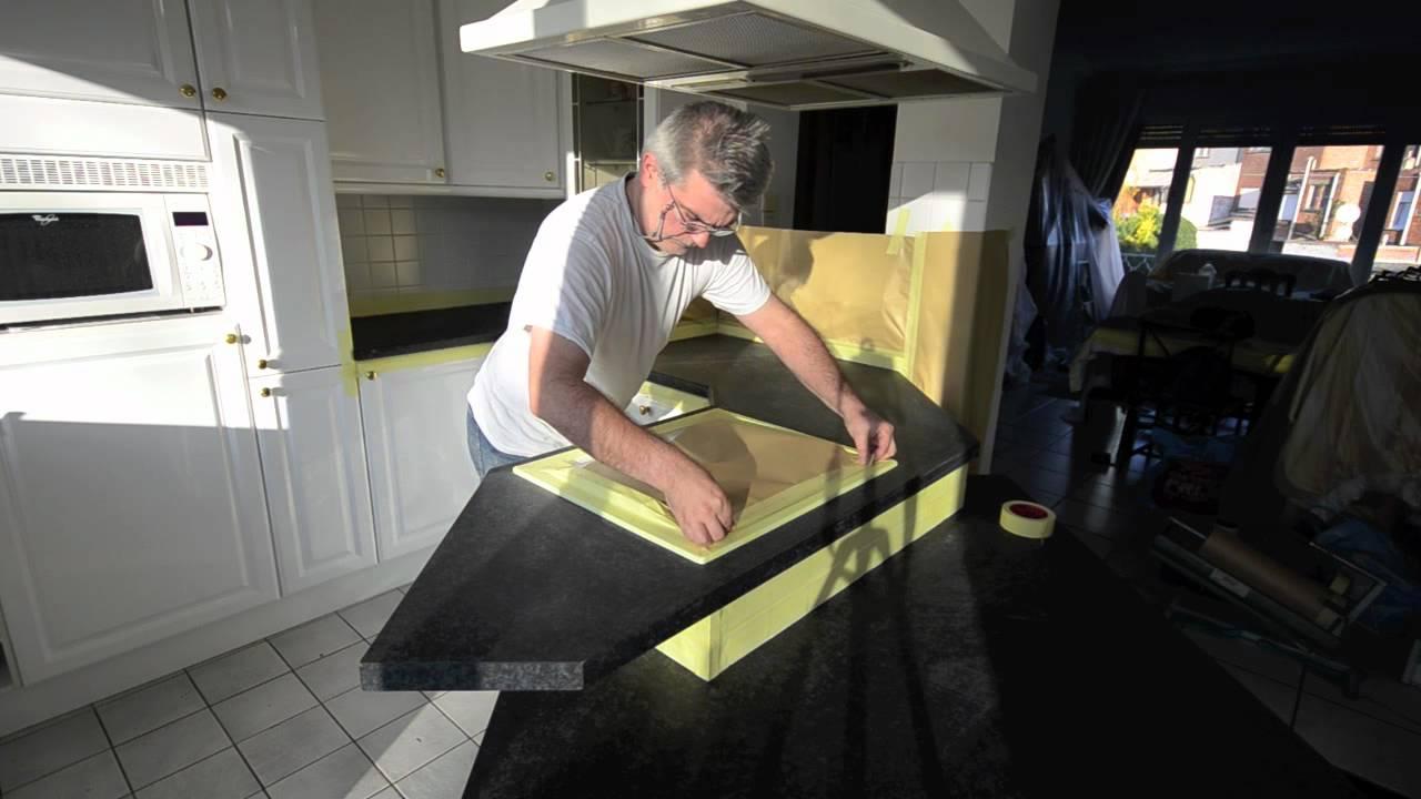 Keuken Fineer Repareren : keukenblad vervangen intereno keukenrenovatie