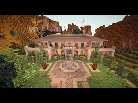 Moderne minecraft villa hollywood style youtube for Style de villa moderne