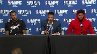 download musica Carmelo Westbrook & PG Postgame Thunder vs Jazz - Game 4 2018 NBA Playoffs