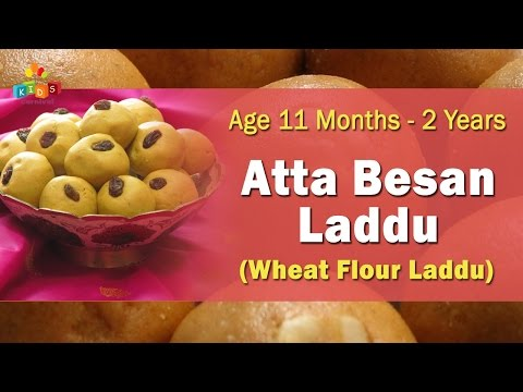 Aata Besan Laddu For 11 Months – 2 Years Old Babies | Food Recipe For Kids Photo Image Pic