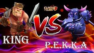 คิง vs เป้กก้า ...ใครจะเป็นฝ่าย ชนะ ? Clash of clans