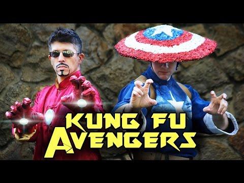 KUNG FU AVENGERS: CIVIL WAR - Iron Man VS Captain America