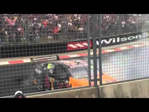 Shane Van Gisbergen burnout Gold Coast 2015 post race win celebration