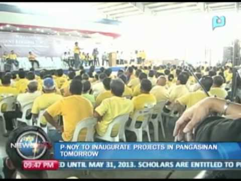 President Aquino to inaugurate projects in Pangasinan tomorrow