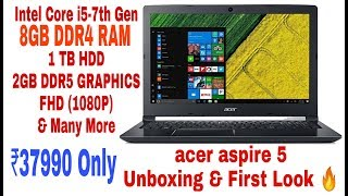 Acer Aspire 5 #A515-51G Laptop Unboxing & First Look | Best Laptop Under #40000 | Tech To U  | HINDI