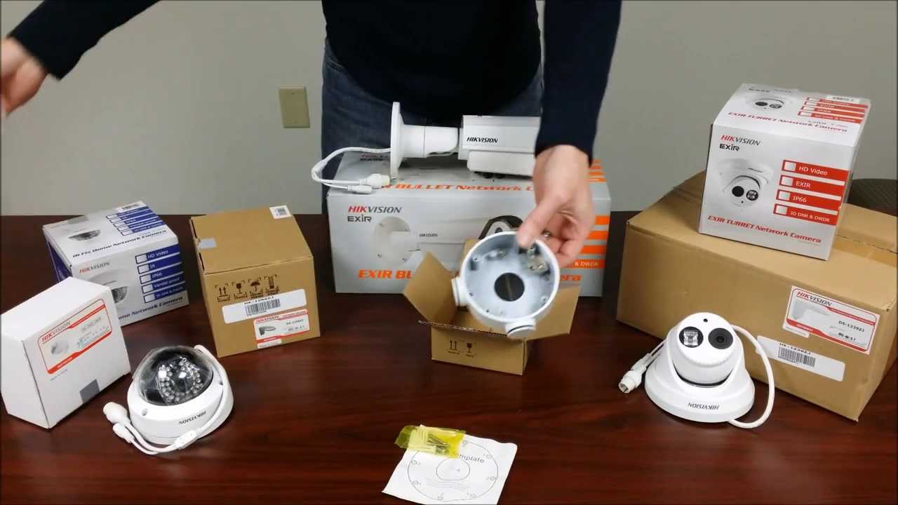Various Hikvision IP Camera Mounting Options Includes New