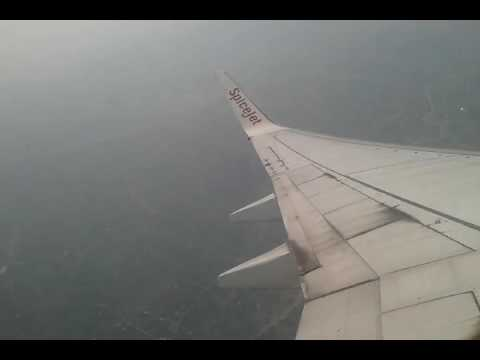 Flying with Spicejet - Bangladesh sky-view from Spicejet flight crossing Bangladesh