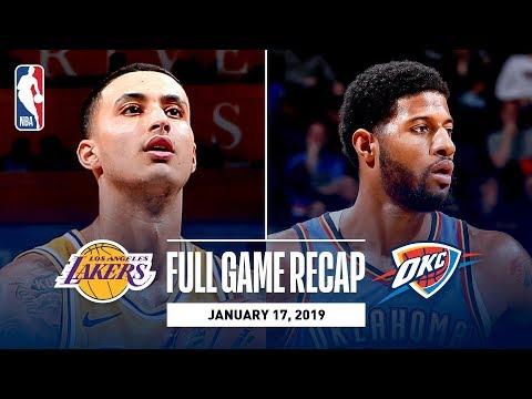 Download Lagu  Full Game Recap: Lakers vs Thunder | Kuzma Goes Off For 32 Points Mp3 Free