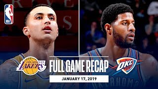Full Game Recap: Lakers vs Thunder   Kuzma Goes Off For 32 Points