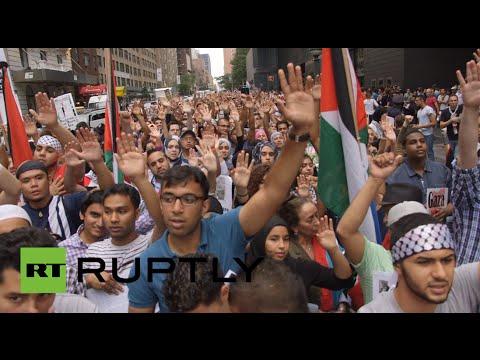 Raw: Pro-Gaza protests sweep US, Germany, Portugal & UK