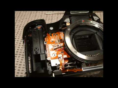 Replacing Shutter on Canon EOS 30D err99 Famous Canon Repair Problem