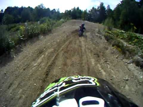 6 year old Liam racing Canaan NH 8/13/11 with Go Pro helet cam