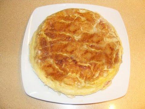 Tortilla de berenjenas queso y jamón by Fran