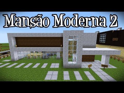 Tutoriais Minecraft: Como Construir a Mansão Moderna 2
