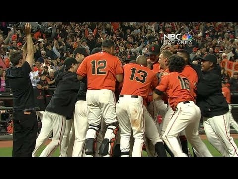 LAD@SF: Posey's walk-off shot gives Giants a 2-1 win