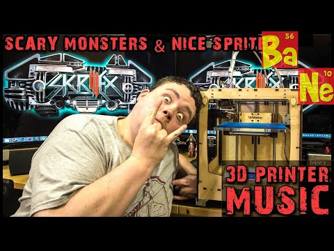 Skrillex Scary Monsters And Nice Sprites On Ultimaker 3d Printer video