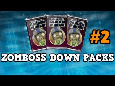 Plants vs Zombies Garden Warfare - *NEW ZOMBOSS DOWN PACKS* Pack Opening - New Characters