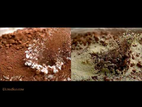 Simulated Meteor impact in slow motion - UltraSlo