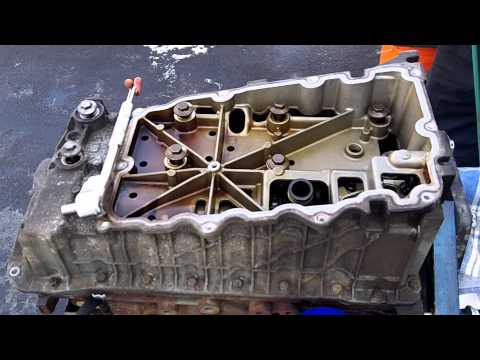 2002 Ford Explorer Timing Chain update 01-08-2013 upper oil pan removal part 1