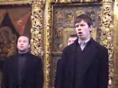 "Russian Orthodox Choir, Sacret Russian singing Chesnokov's ""Gabriel Appeared"""