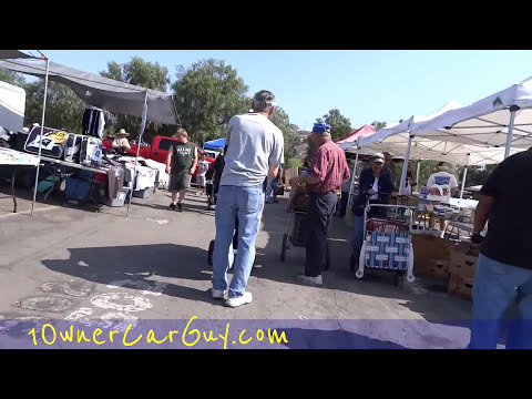 American Swap Meet Flea Market Walkaround Bargain Hunting Video Buying / Selling