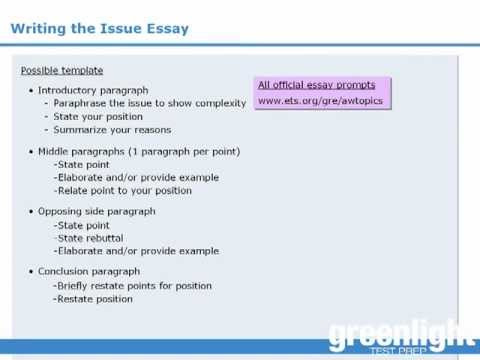 Gre analytical writing issue essay