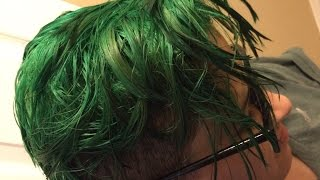 Dying My Brothers Hair Emerald Green!