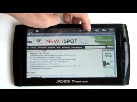 Archos 7 Home Tablet Video Review