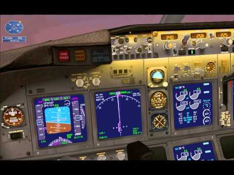 FSX Mission Amsterdam to London Airline Run HD