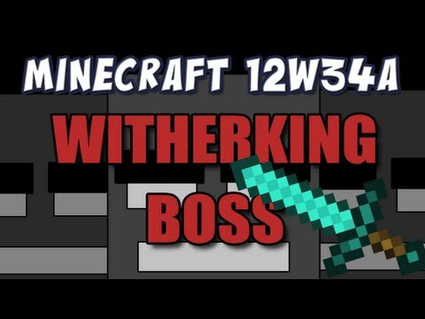 Wither Boss and Crazy Fire Spread (Snapshot 12w34a Part 3)