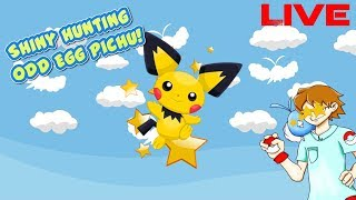 Shiny hunting for Odd egg Pichu DAY 2 come hang out!!!!