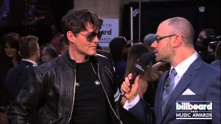 A-has Morten Harket Backstage at the Billboard Music Awards 2013