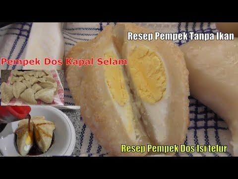 Resep Pempek Dos Isi telur/ Dos Kapal Selam Yang Lembut Dan Tetap Enak Walau Tanpa Ikan