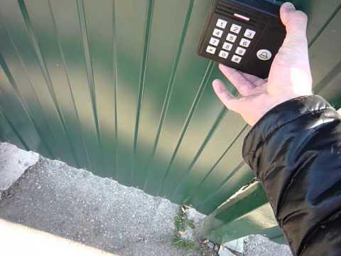 Кодовая RFID  панель для калитки с электромагнитным замком. Часть 2